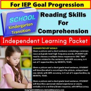 Independent Learning Packet for Special Education | Reading Comprehension SET 1